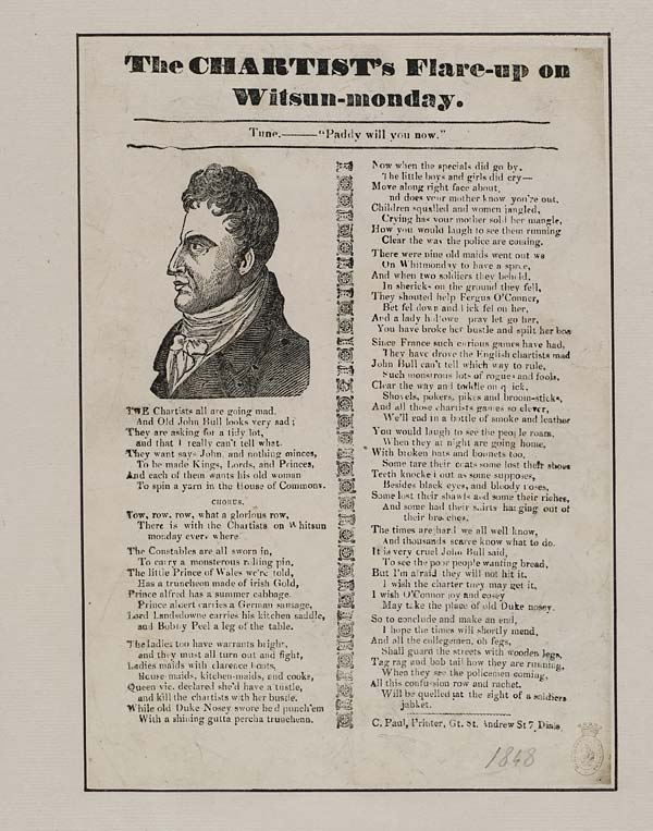(25) Chartist's flare-up on Witsun-monday [sic]
