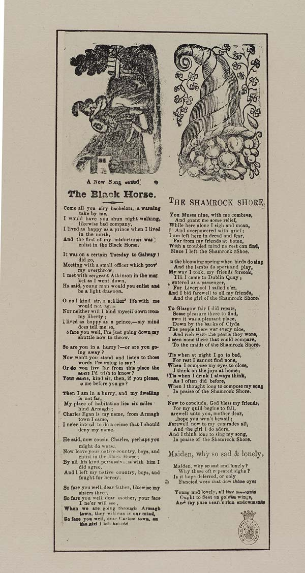 (21) New song called the Black Horse
