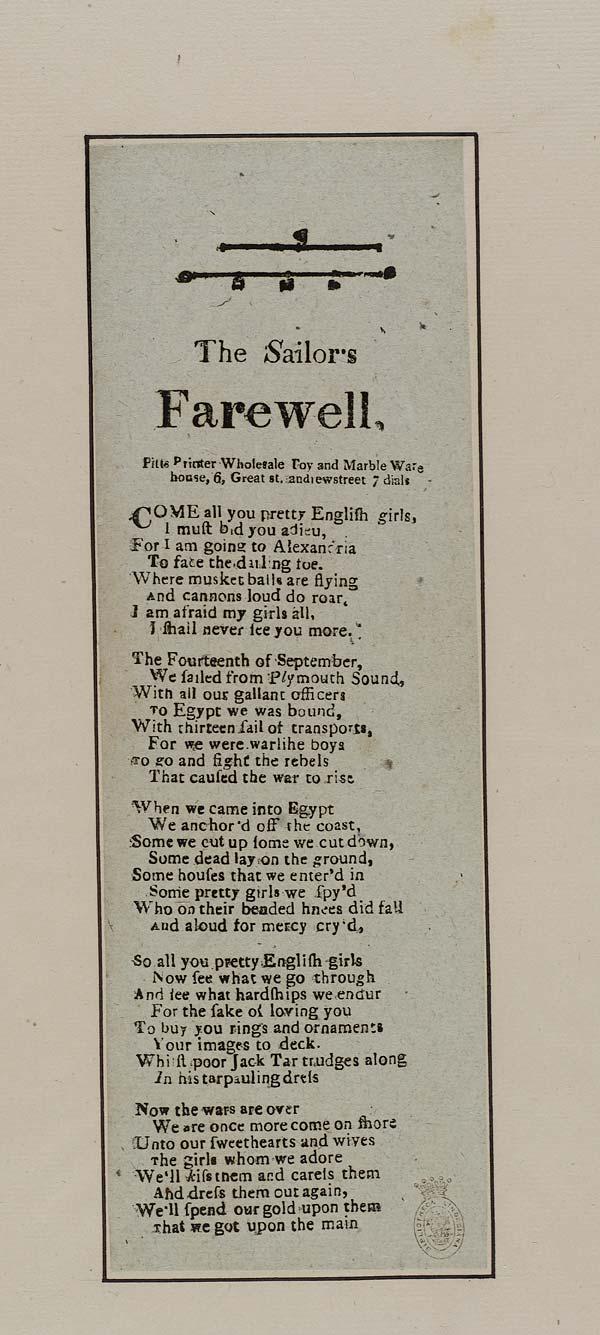 (26) Sailor's farewell