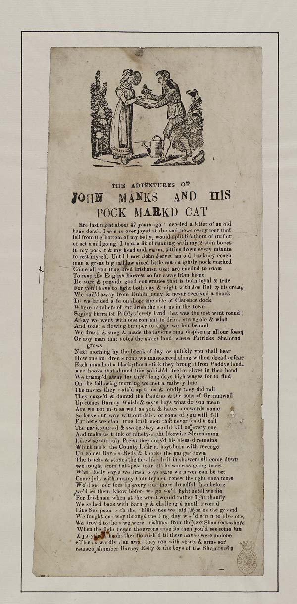 (33) Adtentures [sic] of John Manks and his pock markd [sic] cat