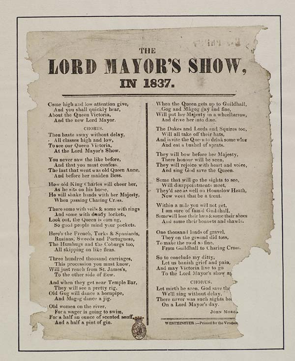 (29) Lord Mayor's show, in 1837