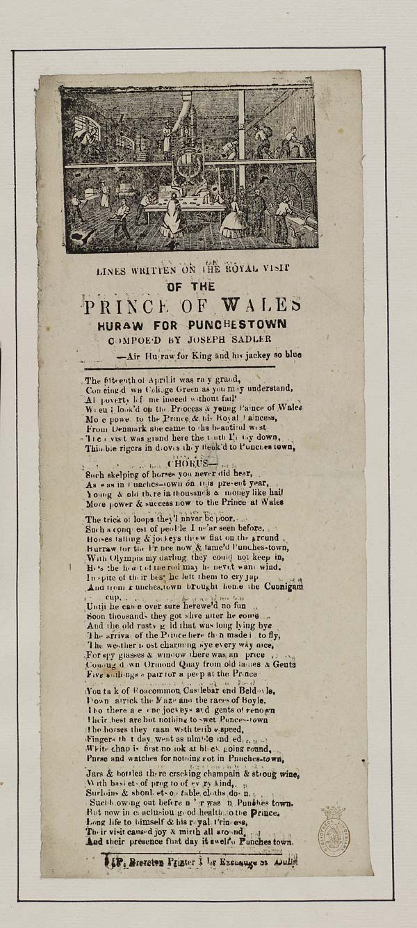 (37) Lines written on the royal visit of the Prince of Wales