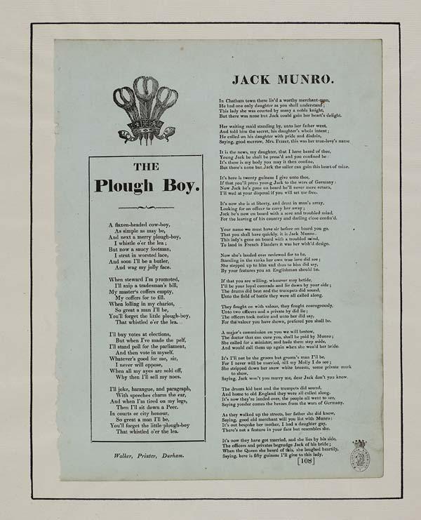 (27) Plough boy