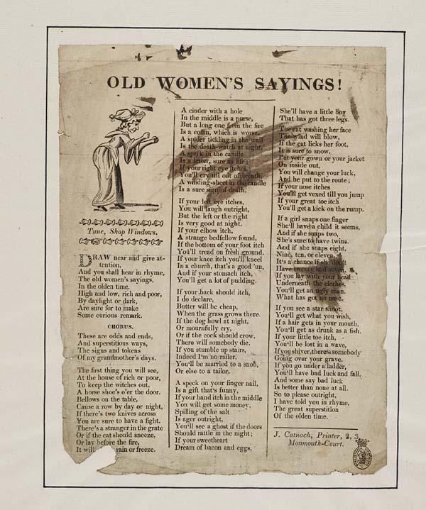 (20) Old women's sayings