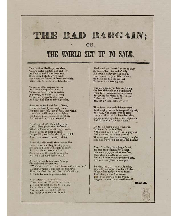 (21) Bad bargain; or, the world set up to sale