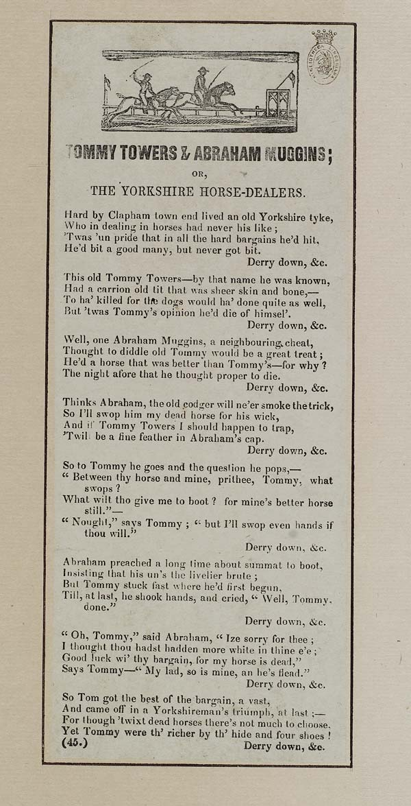 (29) Tommy Towers & Abraham Muggins; or, The Yorkshire horse-dealers