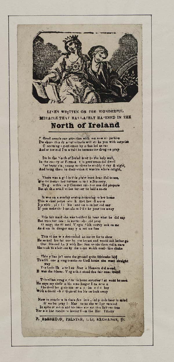(48) Lines written on the wonderful miracle that has lately hapened in the north of Ireland
