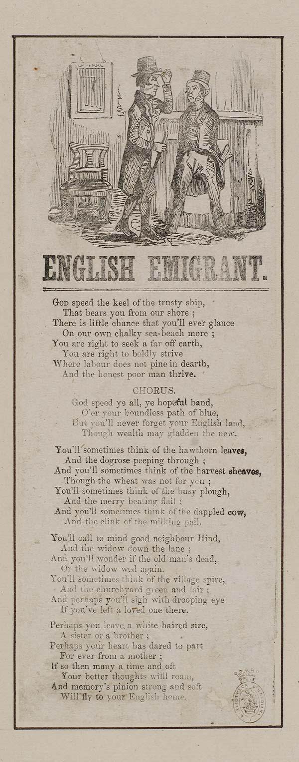 (24) English emigrant