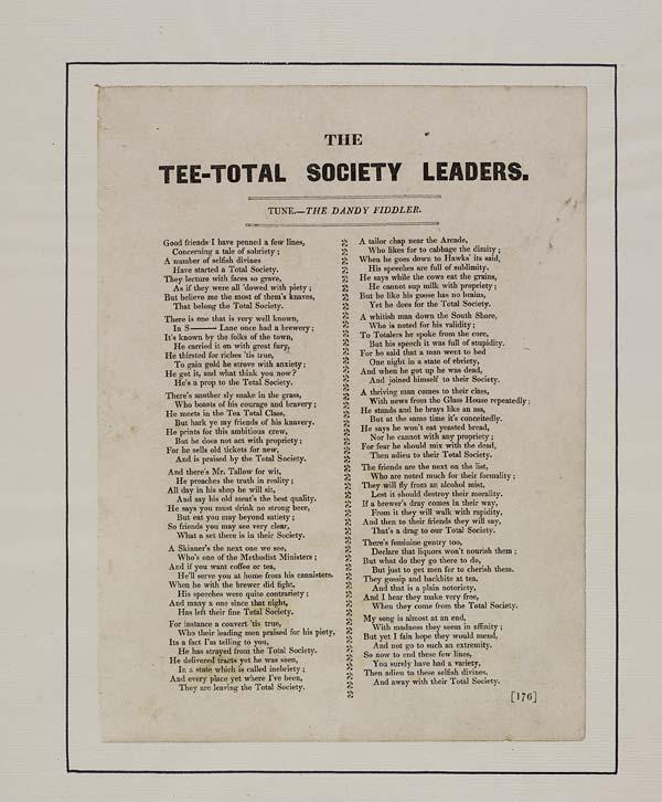 (21) Tee-total society leaders