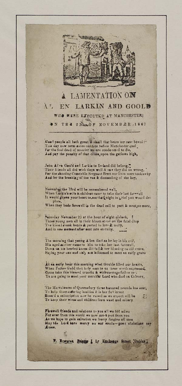 (29) Lamentation on Allen Larkin and Goold