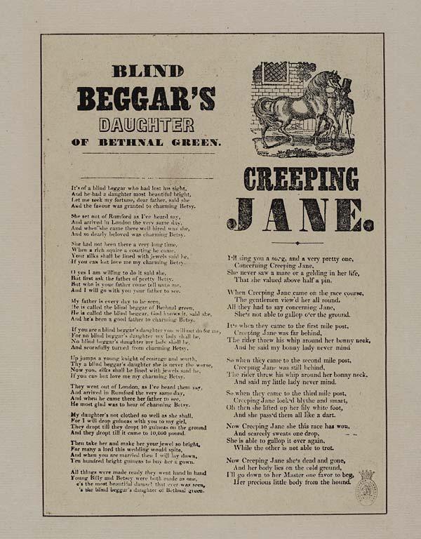 (15) Blind beggar's daughter of Bethnal Green