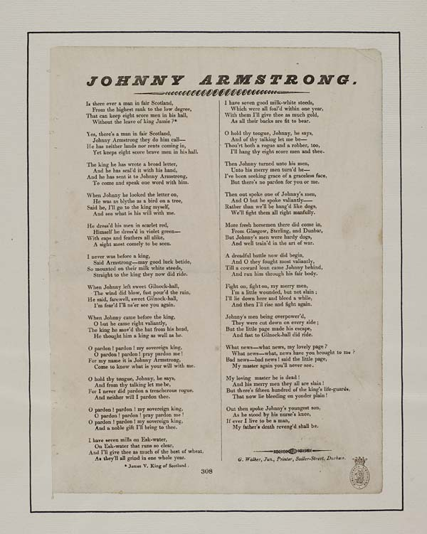 (16) Johnny Armstrong