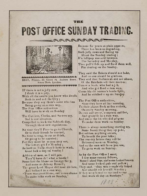 (39) Post office Sunday trading