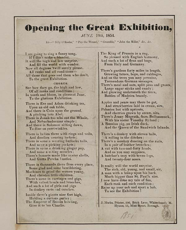 (50) Opening the Great Exhibition, June 10th, 1854