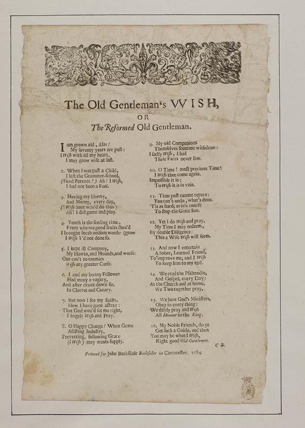 (13) Old gentleman's wish, or The reformed old gentleman