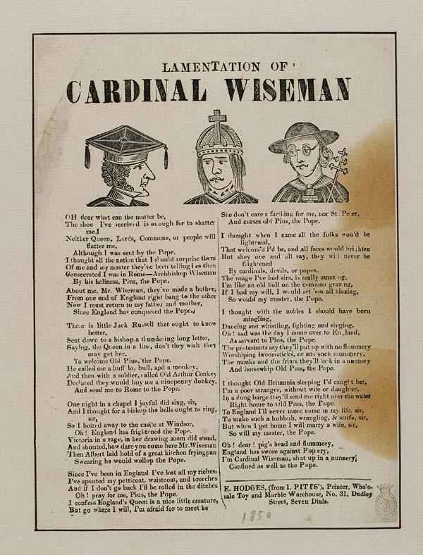(45) Lamentation of Cardinal Wiseman