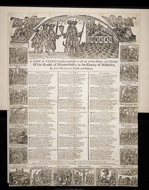 (26) Copy of verses humbly presented to all my worthy masters and mistresses of the hamlet of Hammersmith, in the county of Middlesex