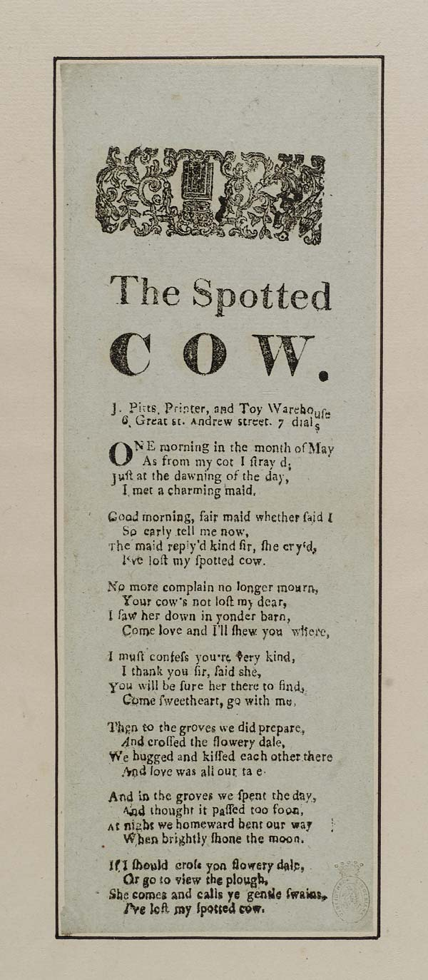 (8) Spotted cow