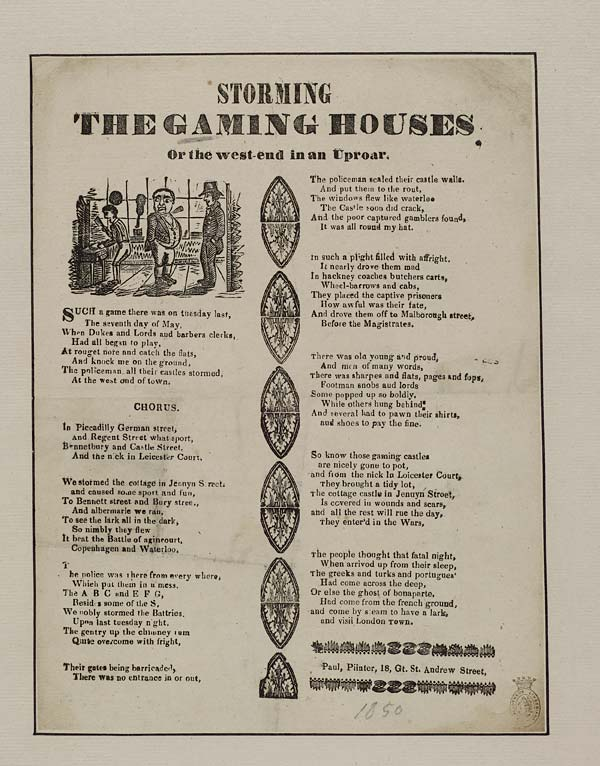 (35) Storming the gaming houses, or The West-end in an uproar