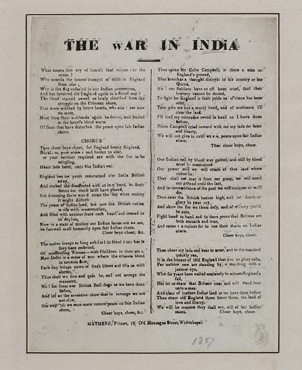 (12) War in India