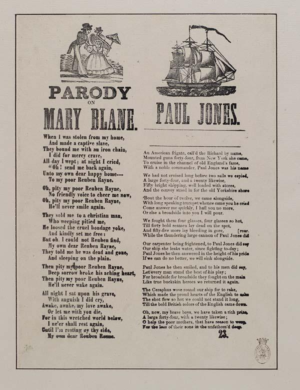 (21) Parody on Mary Blane