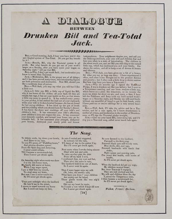 (44) Dialogue between drunken Bill and tea-total Jack