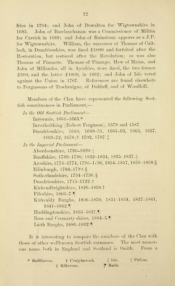 16) Page 12 - Clan and name of Ferguson - Histories of