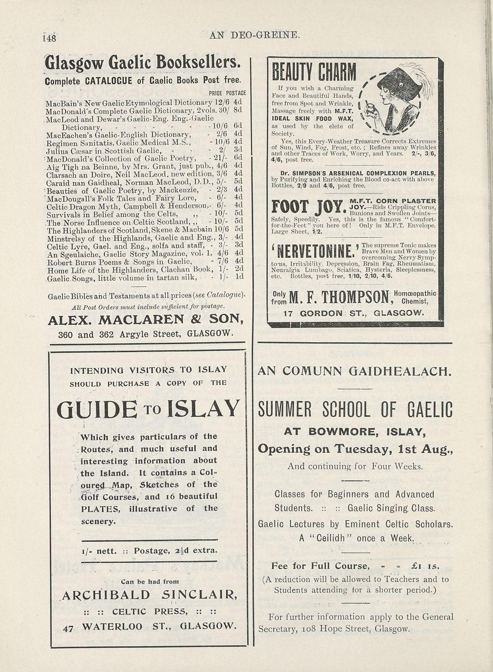 156) Advertisements - An Comunn Gàidhealach Publications > Deo