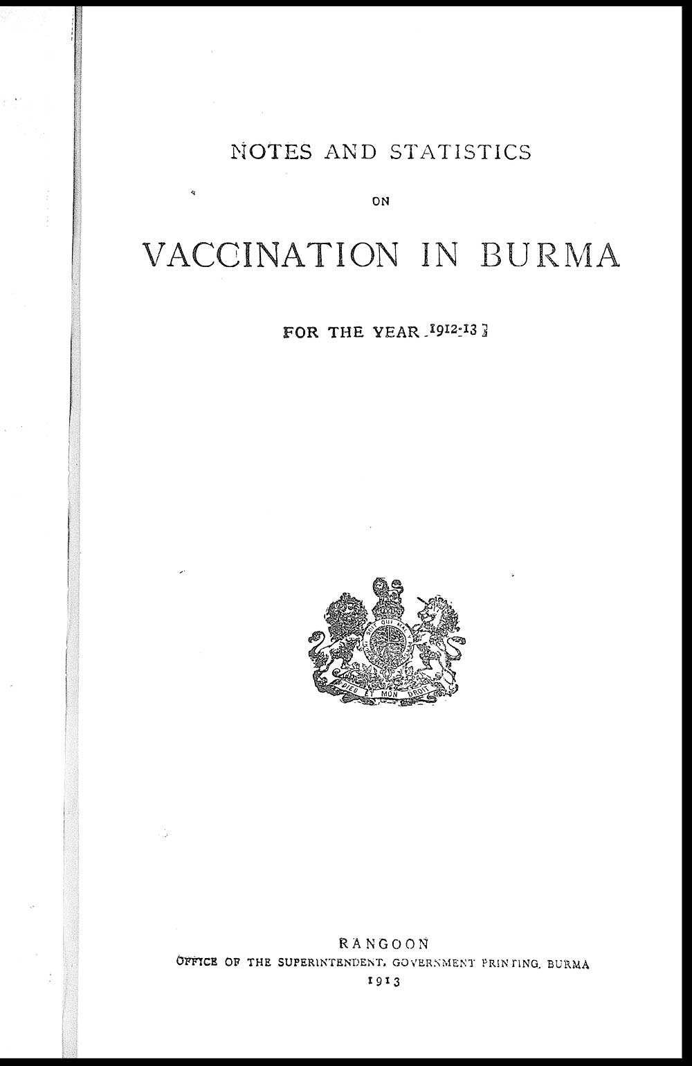 34) Title page - India Papers > Medicine - Vaccination
