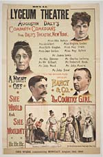 Augustin Daly's Company of Comedians from Daly's Theatre, New York
