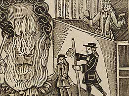 Woodcut of book-burning