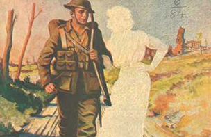 Soldier On Wartime Magazine Cover