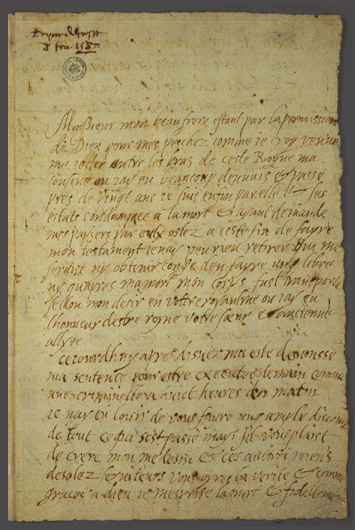 Mary Queen last letter