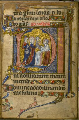 The Hours of the Virgin (Vespers) - historiated initial