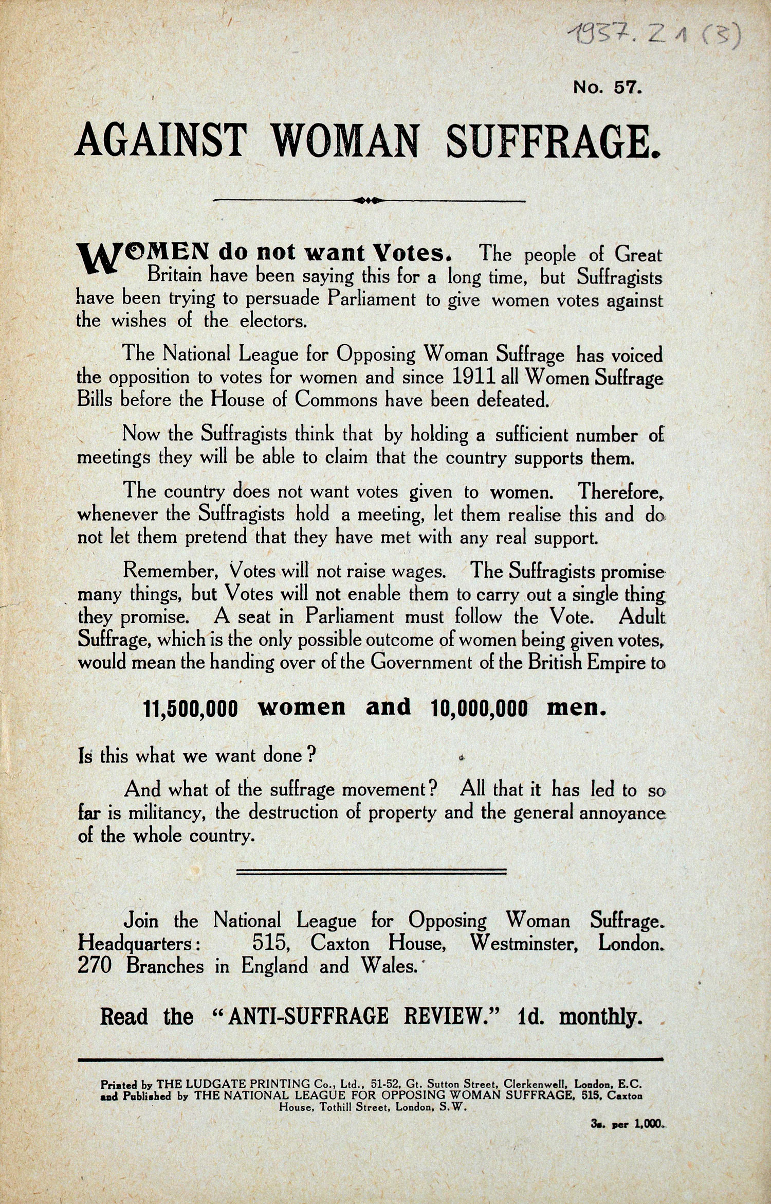 Extract from anti-suffrage pamphlet